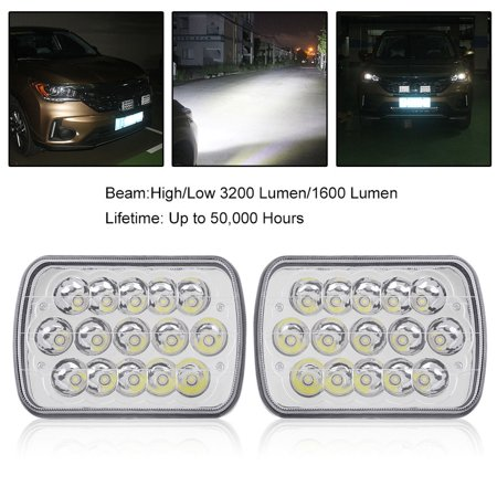 7x6 Inch Led Crystal Clear Light Hid Light Bulbs Cars Ayto