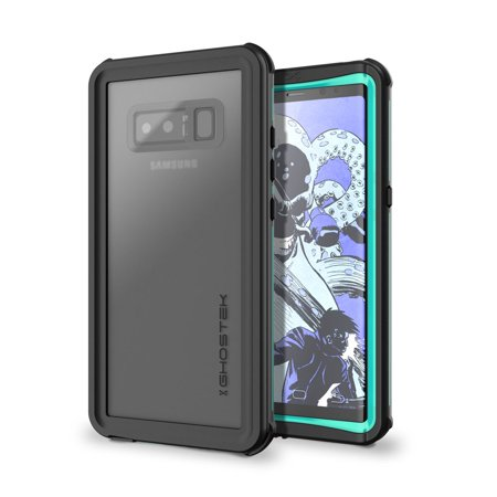 Tea Note Collection (Ghostek Nautical Full Body Waterproof Case Designed for Samsung Galaxy Note 8 – Teal)