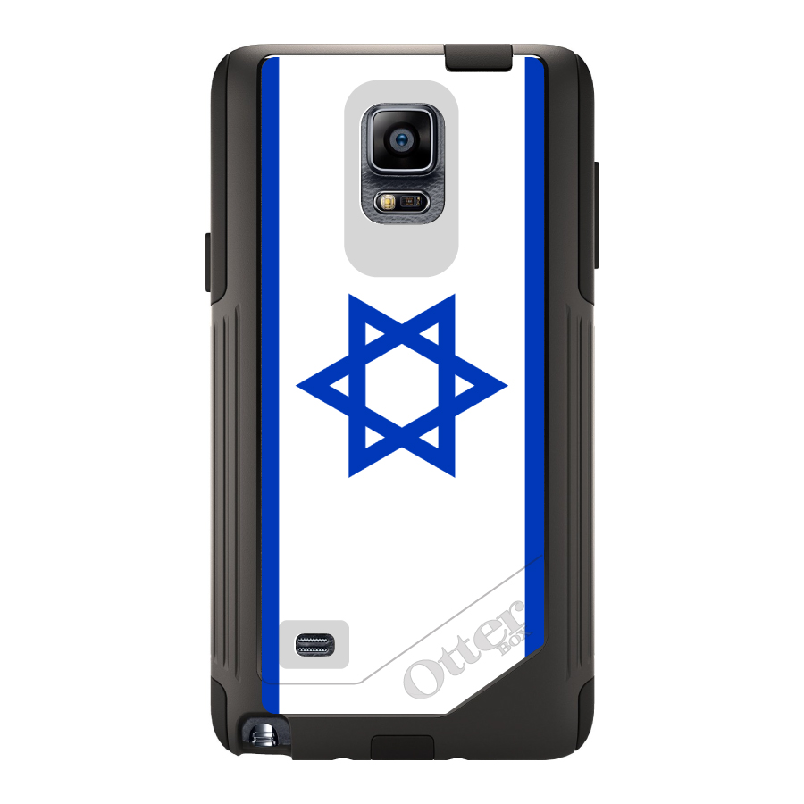 CUSTOM Black OtterBox Commuter Series Case for Samsung Galaxy Note 4 Israel...