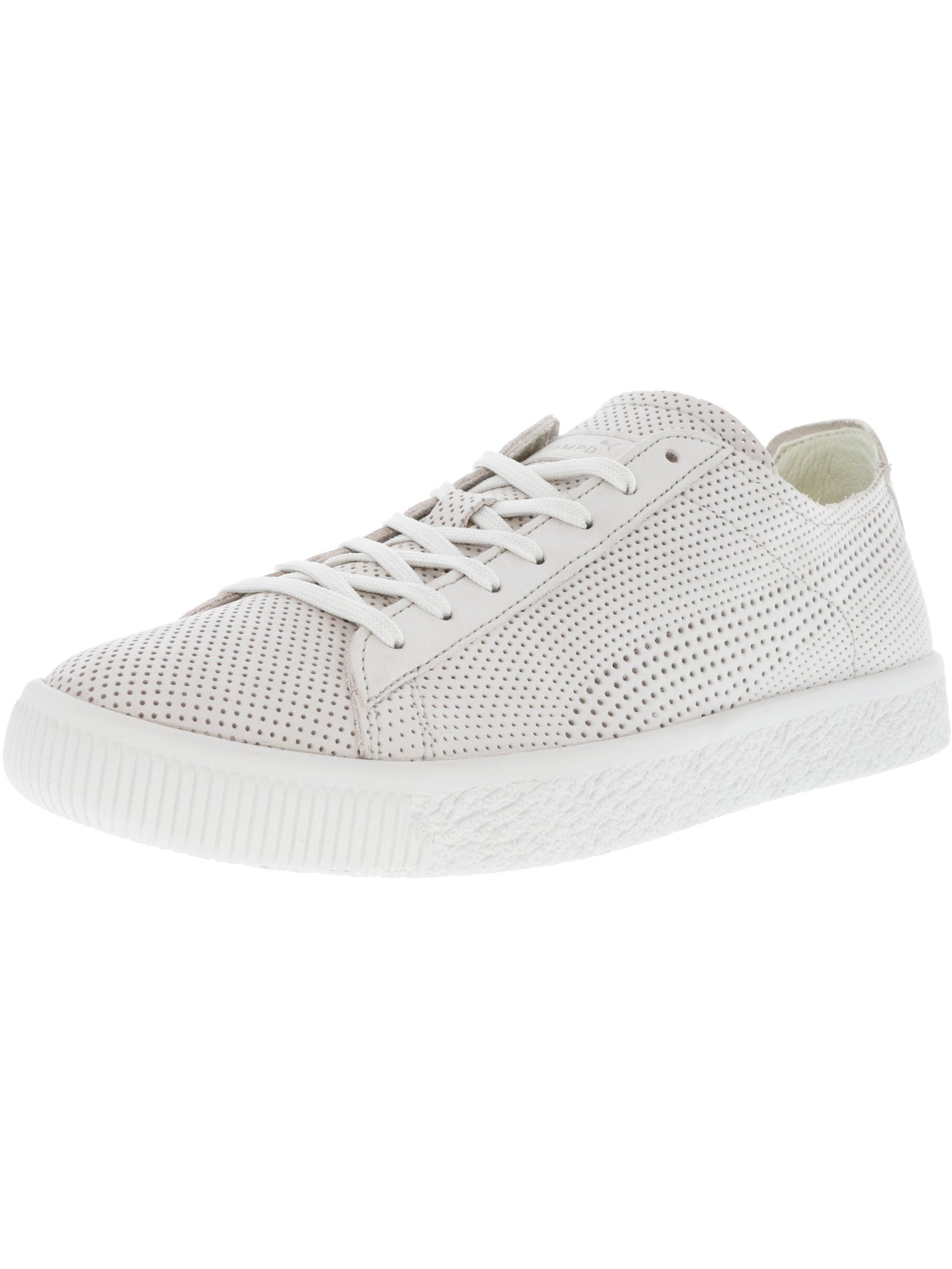 Puma Men's Stampd Clyde Grey Ankle-High Leather Fashion Sneaker - 9M