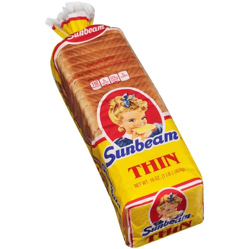 Sunbeam Thin Enriched Bread, 16 oz