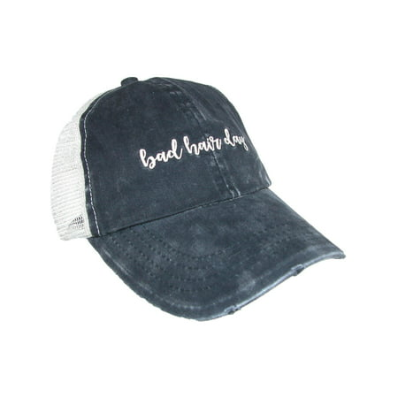 David and Young - Women s Distressed Bad Hair Day Ponytail Baseball Cap -  Walmart.com 04d920bdd7f