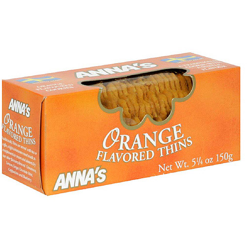 Anna's Orange Flavored Thins, 5.25 oz (Pack of 12)