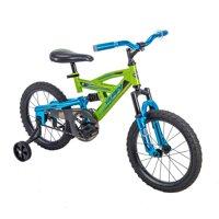 Huffy 16 DS 1600 Kids EZ Build Dual Suspension Bike for Boys, Green