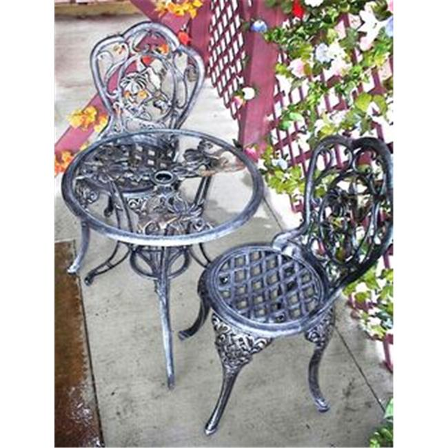 Oakland Living 3205-AP Hummingbird 3 Pc Bistro Set Antique Pewter by Oakland Living Corporation
