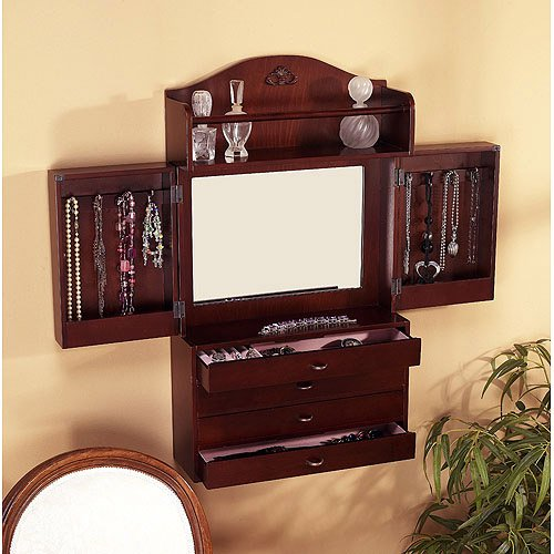 wall mount jewelry armoire. Black Bedroom Furniture Sets. Home Design Ideas