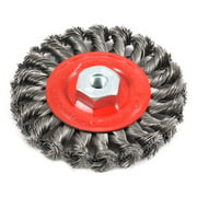 "4"" x .020"" Wire Wheel Brush Twist Knot w/M10 by 1.25 Arbor Forney 72784"