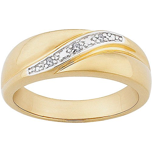 Online Men S Diamond Accent 14kt Gold Over Sterling Silver Wedding