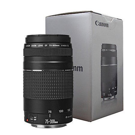 Canon EF 75-300mm f/4-5.6 III Autofocus Lens for EOS T6 T6s T6i T5 T5i