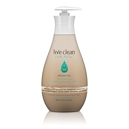 Oil Hand Soap - Live Clean Replenishing Liquid Hand Soap, Argan Oil, 17 Oz