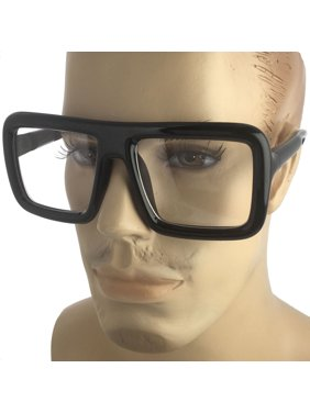 01d719633d Product Image Mens Bold Frame Large Thick Retro Nerd Bold Big Oversized  Square Clear Lens Glasses