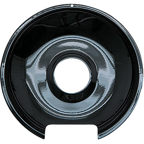 Range Kleen 1 Large Drip Pan, Style E fits Hinged Electric Ranges Amana/Frigidaire/Maytag/Whirlpool, Black Porcelain