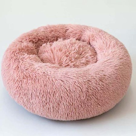 Calming Dog Cat Bed Round Super Soft Plush Pet Bed Marshmallow Cat Puppy Dog Nest Winter Warm Beds Sleeping Cushion - image 1 of 3
