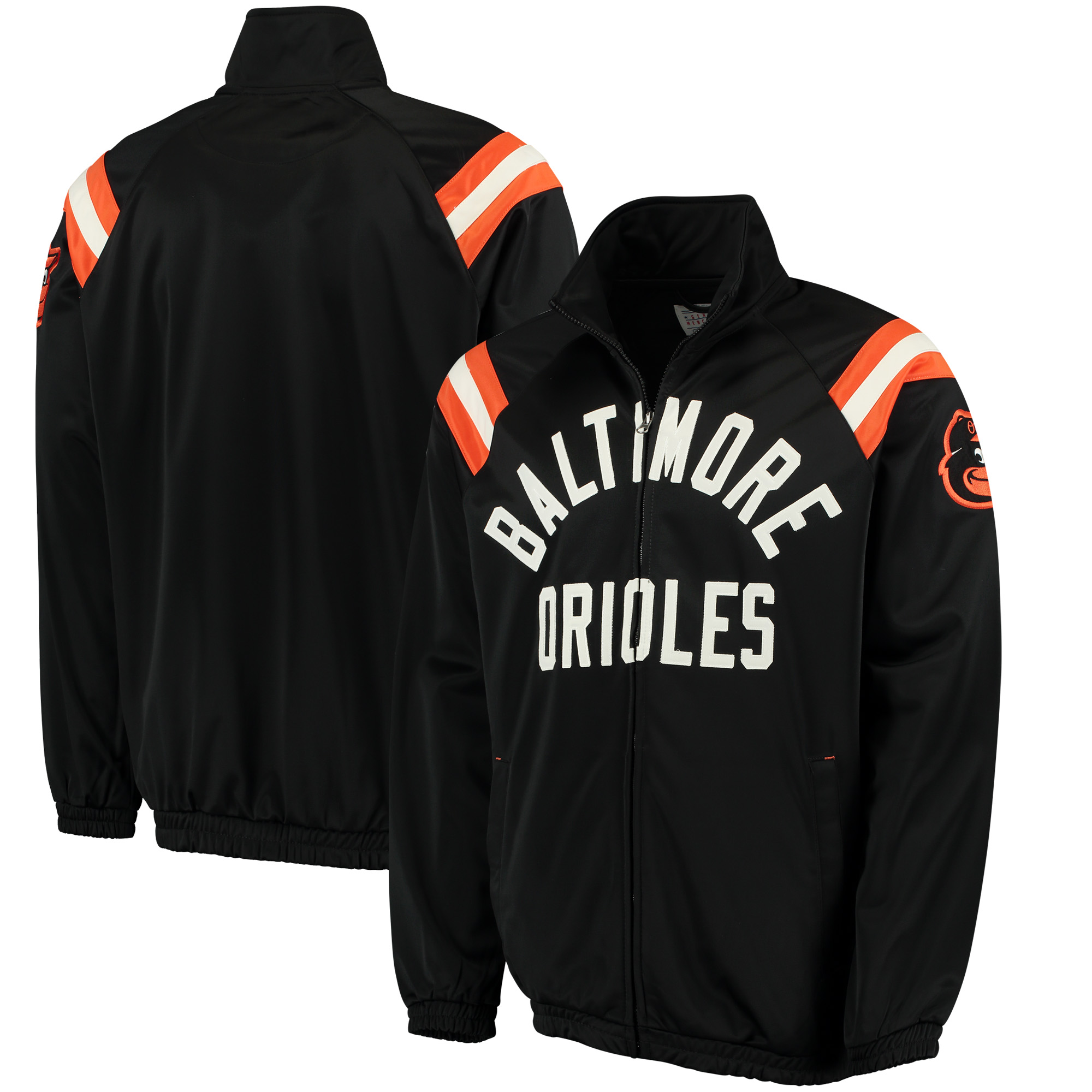 Baltimore Orioles G-III Sports by Carl Banks Centerfield Track Full-Zip Jacket - Black