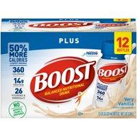 Boost Plus Nutritional Drink Very Vanilla 14g Protein 8 Fl Oz 12 Ct