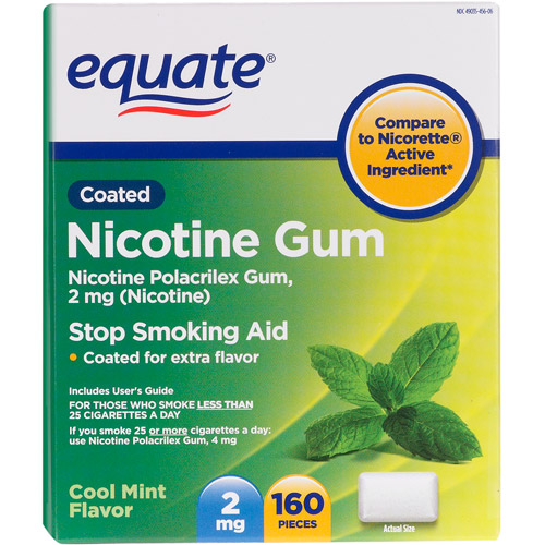 Equate Stop Smoking Aid In Mint w/2Mg Nicotine Ea. Piece Nicotine Gum - 1 Ct