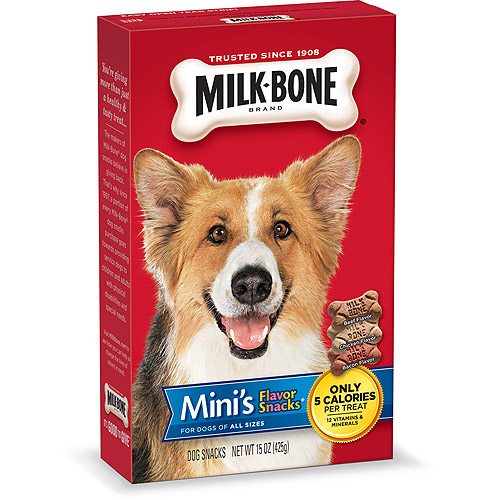 Milk-Bone Mini's Flavor Snacks Dog Biscuits, 15-Ounce