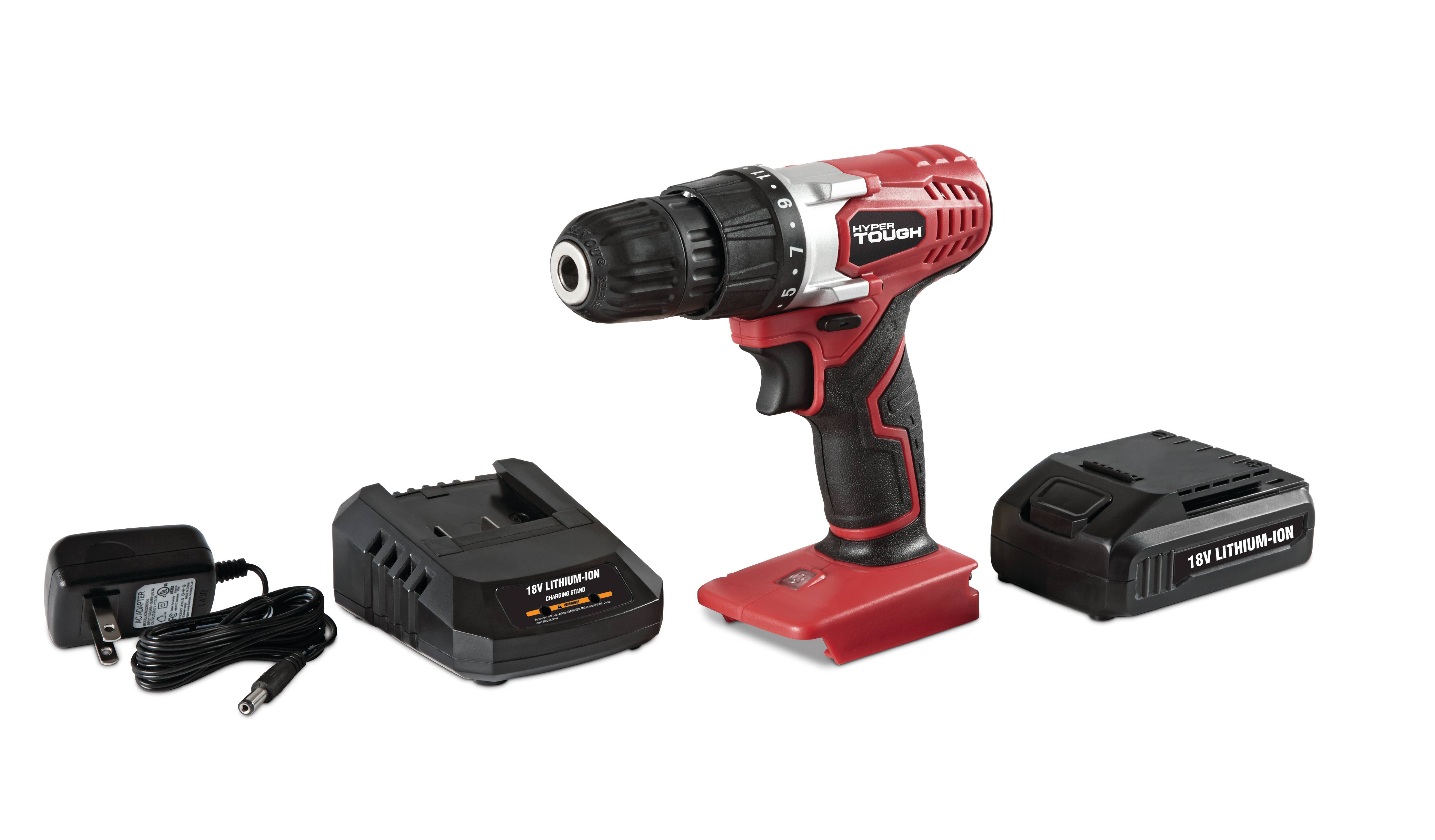 Hyper Tough AQ75032G 20V Lithium Ion Drill With Battery And Charger ...