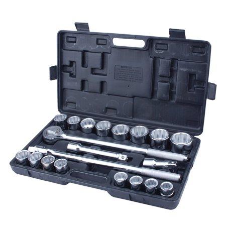 21pc 3/4in Drive Heavy Duty Jumbo Socket Set with BMC