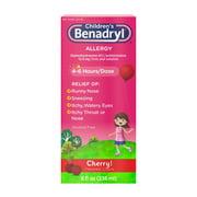 Children's Benadryl Antihistamine Allergy Liquid, Cherry, 8 fl. oz