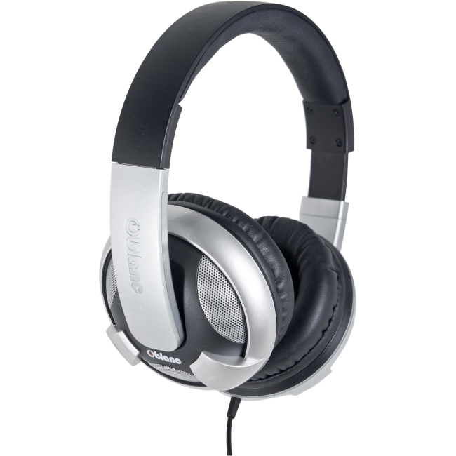 SYBA Multimedia - OG-AUD63053 - SYBA Multimedia Oblanc U.F.O. Silver Subwoofer Headphone w/In-line Microphone - Stereo -