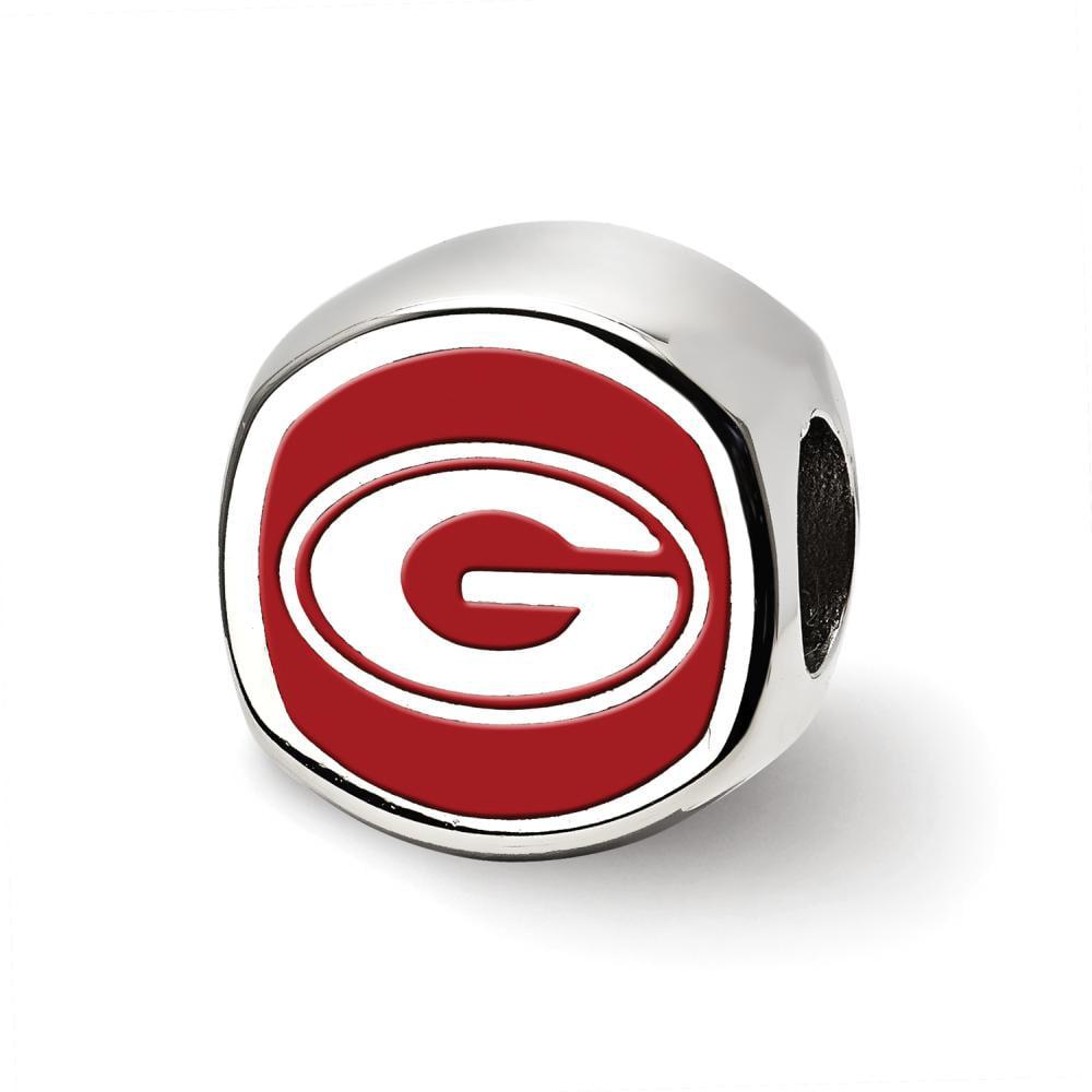 Georgia Cushion Shaped Logo Bead (Sterling Sliver)