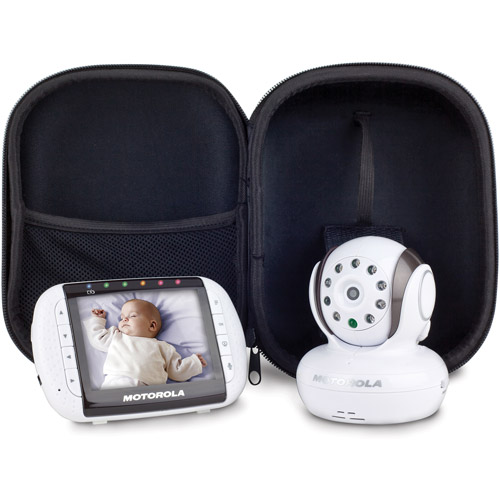 "Motorola 2.4 GHz Wireless Video and Audio Baby Monitor with 3.5"" Color Screen and Case, MBP34T"