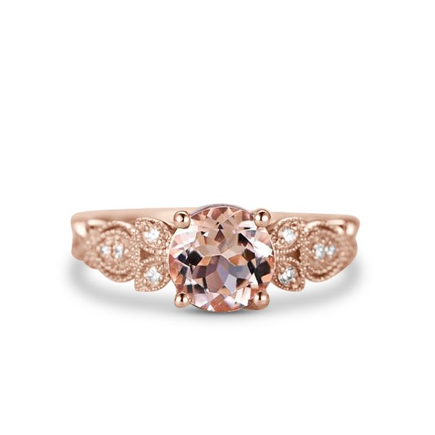 1.25 Carat Round Cut Real Morganite And