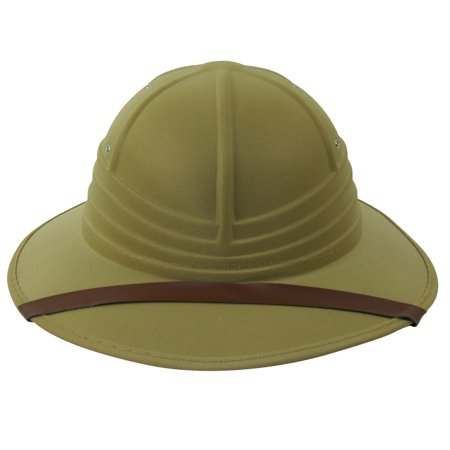 Jungle Safari Helmet British Pith Hunting Hat Costume Accessory