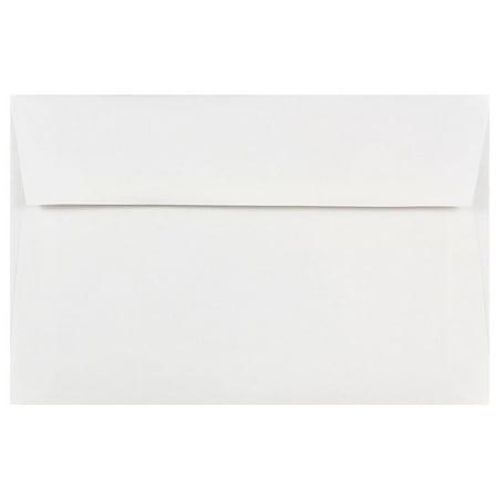 JAM Paper A9 Invitation Envelopes, 5 3/4 x 8 3/4, White, 100/Pack