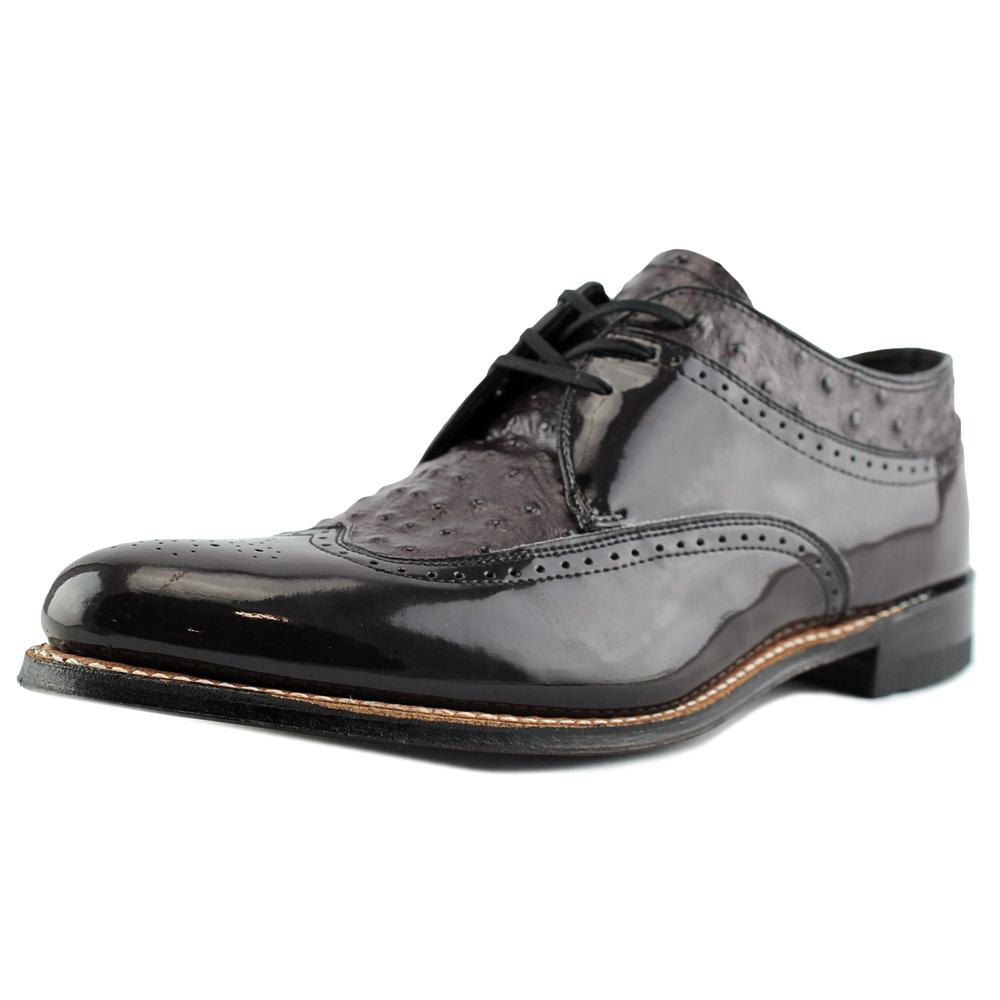 Stacy Adams Dayton Men Wingtip Toe Patent Leather Burgundy Oxford by Stacy Adams