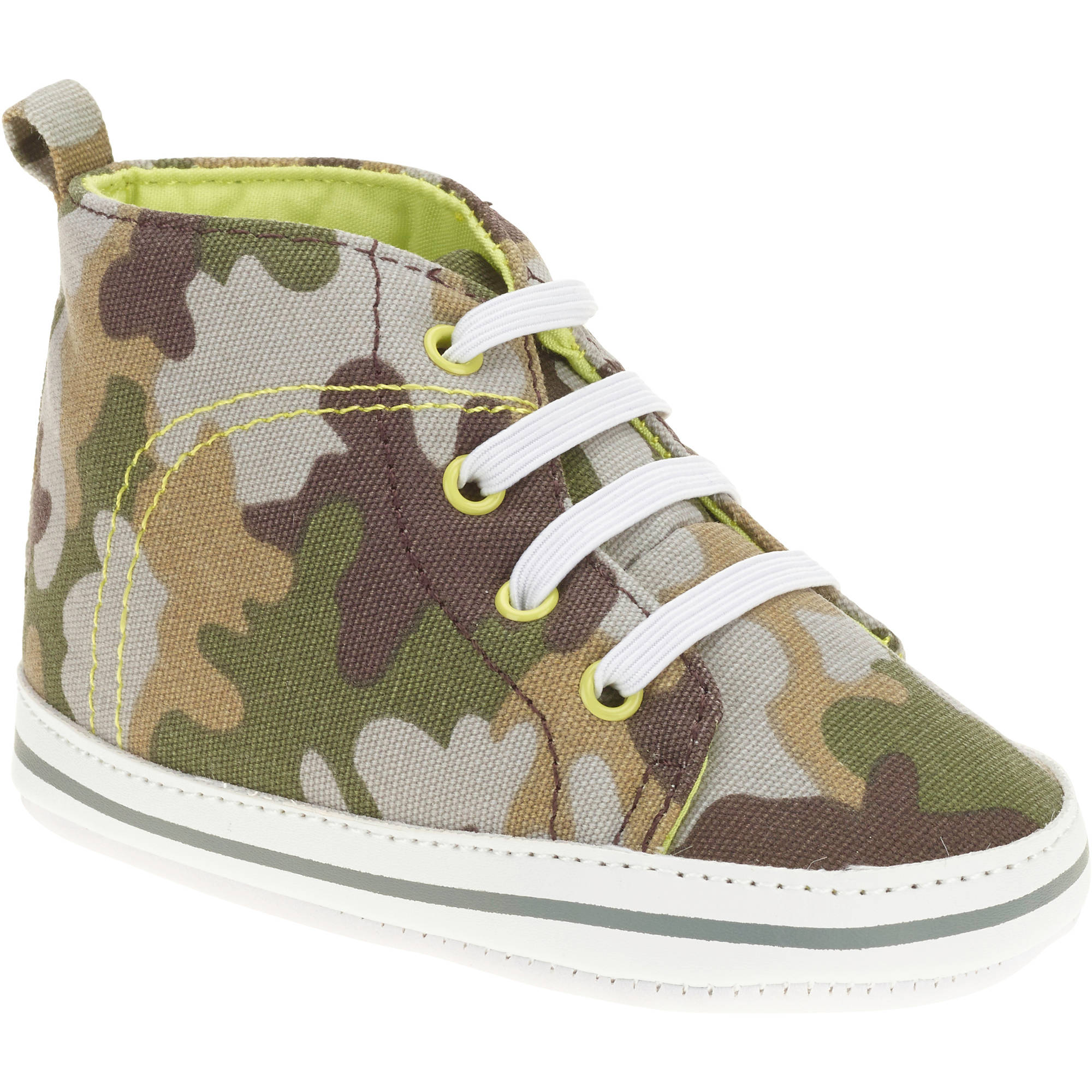 Child of Mine by Carter's Newborn Baby Boy Camo Hightop Sneakers