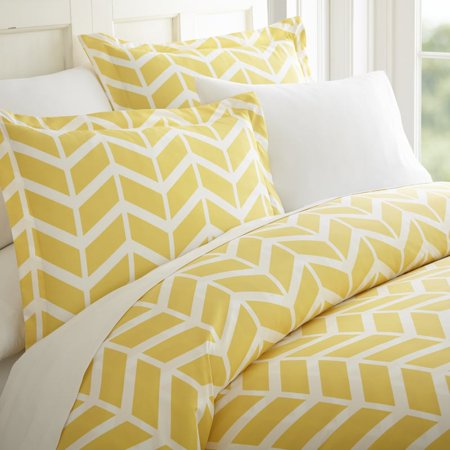 Soft Essentials™ Premium Ultra Soft Arrow Pattern 3 Piece Duvet Cover Set - Twin - Yellow (King Duvet Cover Set Yellow)