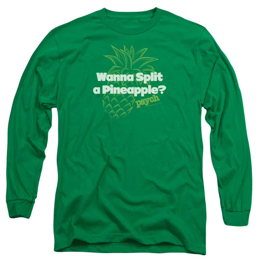 Psych Pineapple Split Mens Long Sleeve Shirt