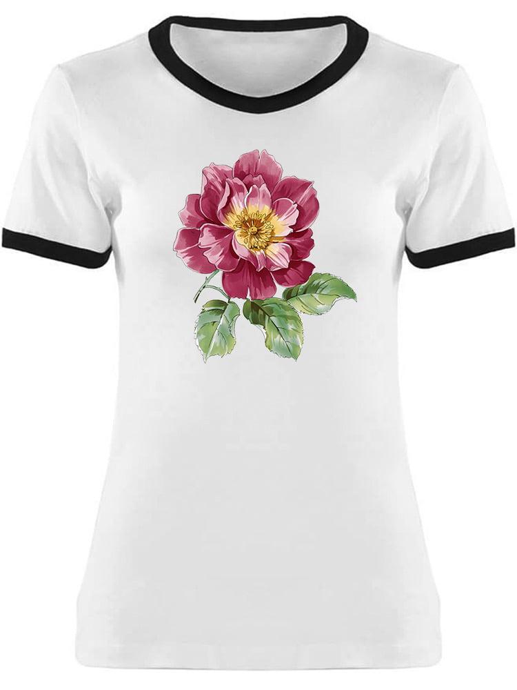 f3ddea63 Teeblox - Watercolor Flower, Cool Pink Tee Women's -Image by ...
