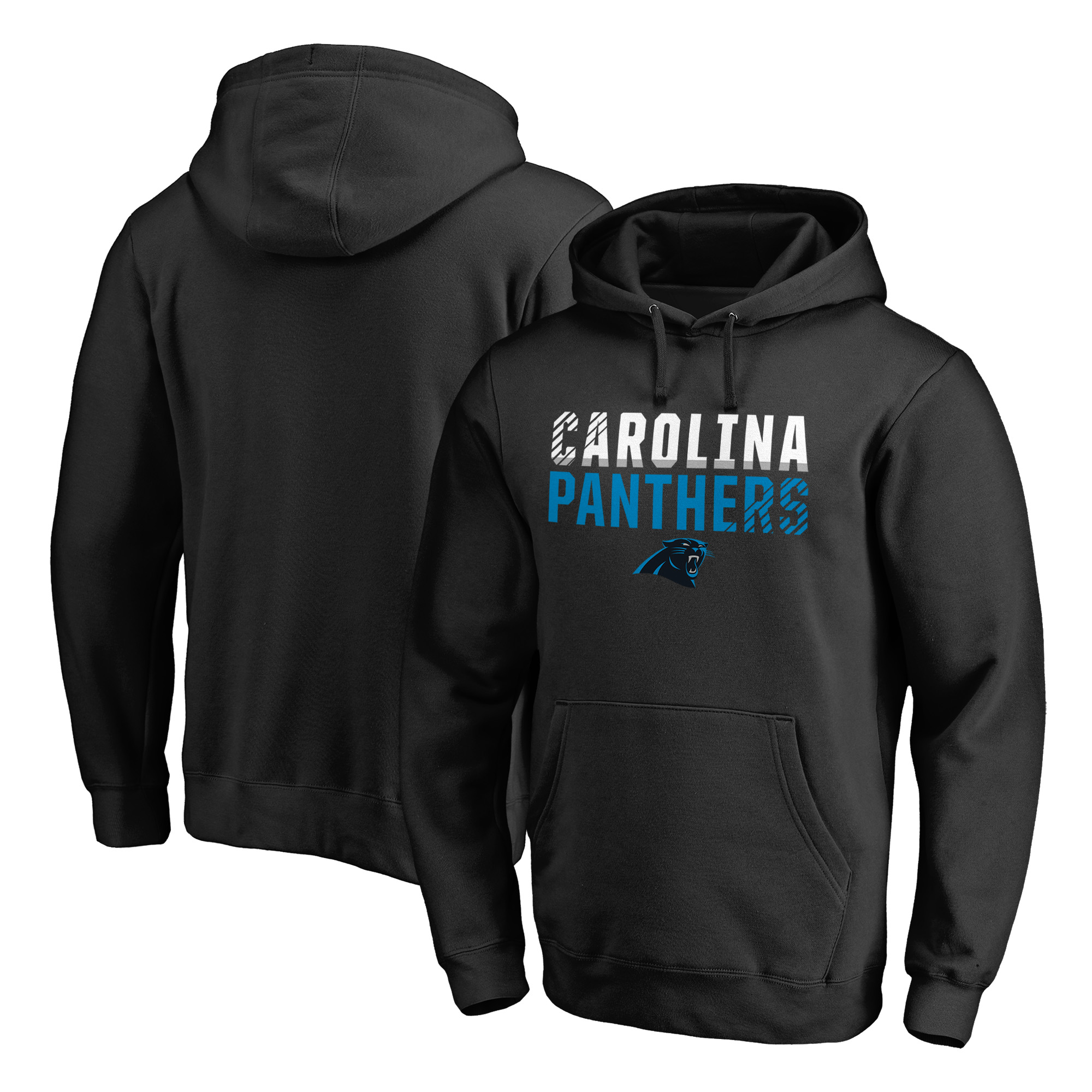 Carolina Panthers NFL Pro Line by Fanatics Branded Iconic Collection Fade Out Pullover Hoodie - Black