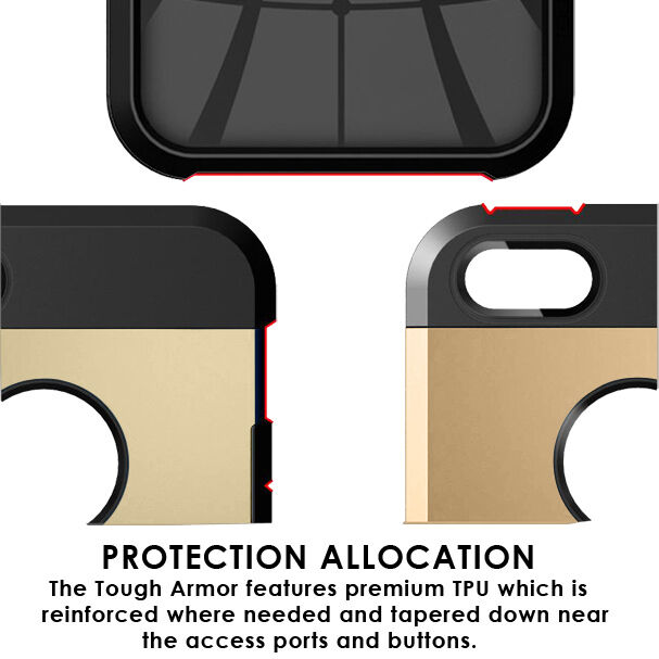 LivEditor The New Touch Armor iPhone 5S / 5 case with Black and Gold Color CA - image 1 of 6