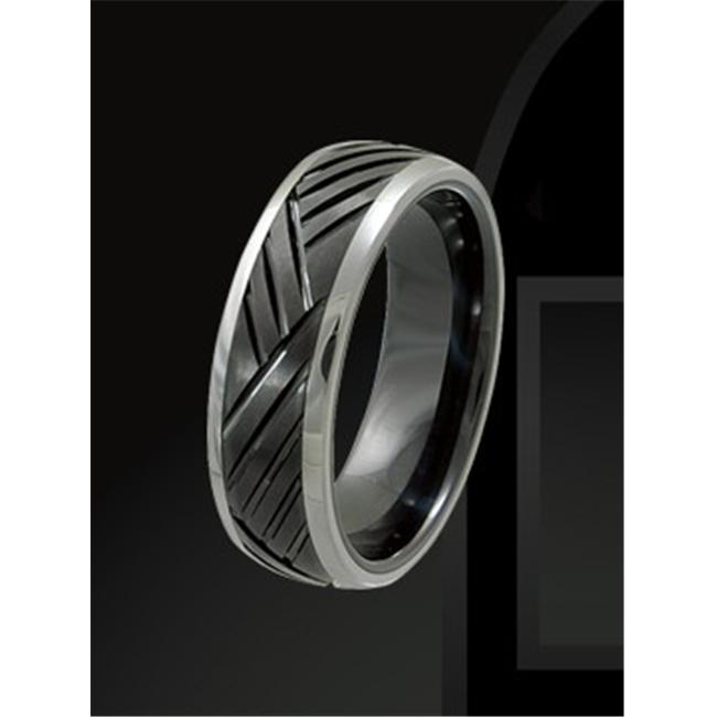 Rising Time TCR-3094-sz-10 Tungsten Ceramic Band Size- 10