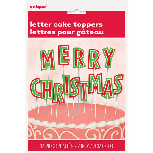 Merry Christmas Letters Cake Topper