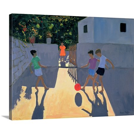 Great Big Canvas Andrew Macara Premium Thick Wrap Canvas Entitled Footballers  Kos  1993