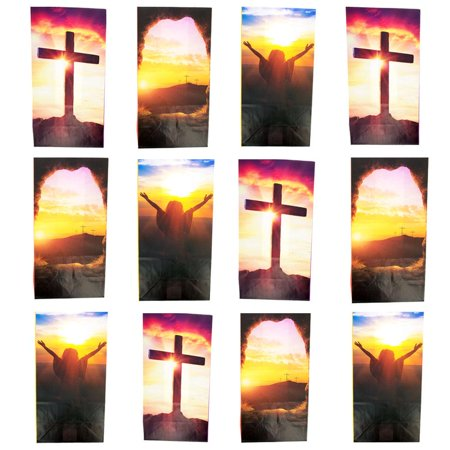 Set of 12 Religious Easter Gift Bags 9.75 Inches](Easter Gift Bags)