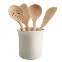 Ayesha Curry Home Collection Ceramic Tool Crock, French Vanilla