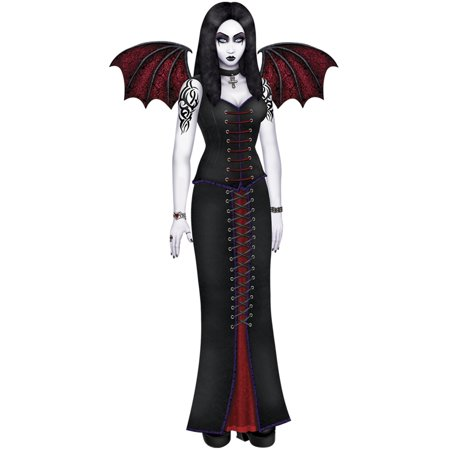Halloween Spooky Jointed Goth Beauty Vampire Haunted Figurine Prop Decoration 6' - Halloween Side Dishes Spooky