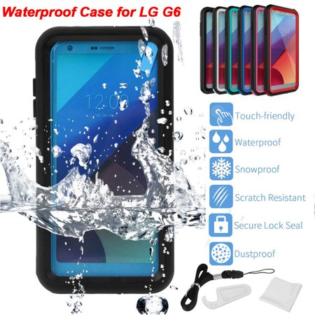the best attitude 59796 8b4dc LG G6 Waterproof Case, Full Body Protective Case IP68 Certified Water  Resistant Shockproof Dustproof Snowproof Case for LG G6, Red