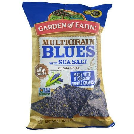 Garden of Eatin' Organic Multigrain Tortilla Chips, Blues with Sea Salt, 8.1 oz