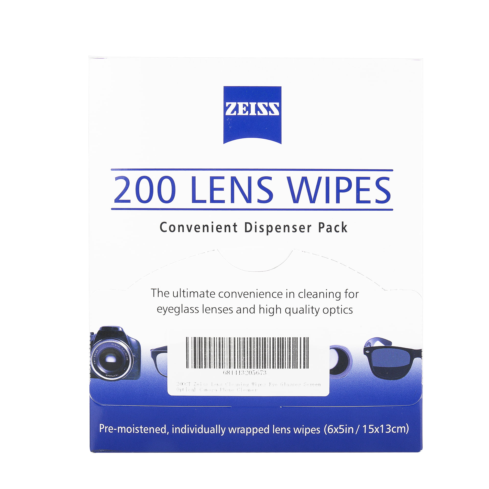 10 x ZEISS Optical Lens Cleaning Wipes 4 Glasses Camera Screen individually wrap