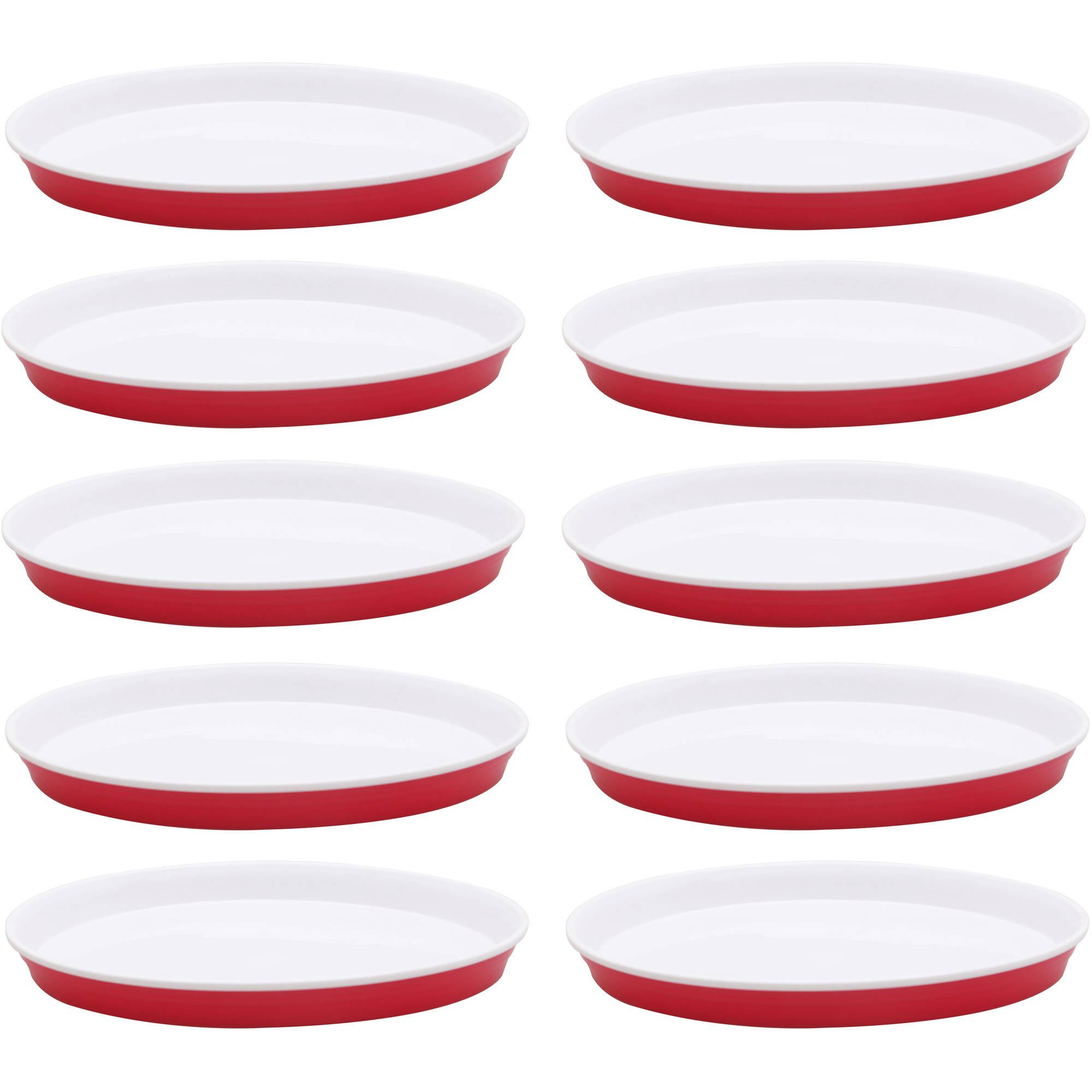 Better Homes and Garden Party Plates 10-Pack, Red