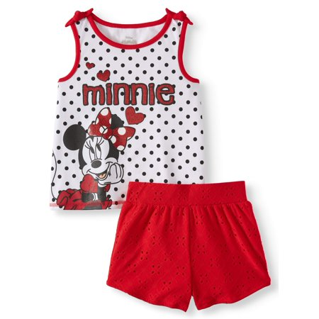 Minnie Mouse Tank Top and Shorts, 2pc Outfit Set (Toddler Girls)