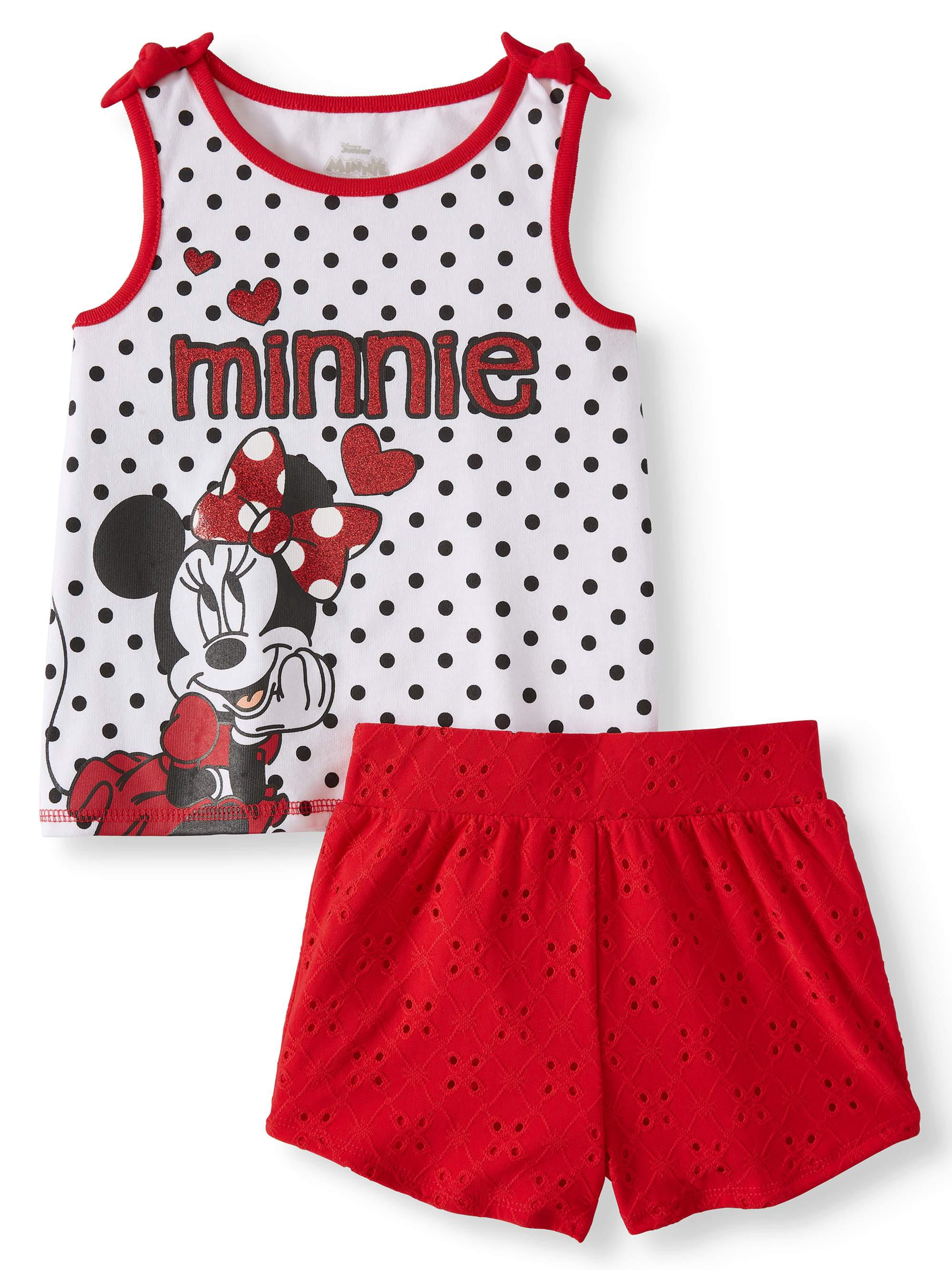 Tank Top and Shorts, 2pc Outfit Set (Toddler Girls)