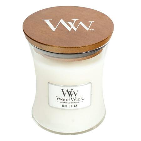 WoodWick White Teak - Medium Hourglass Candle